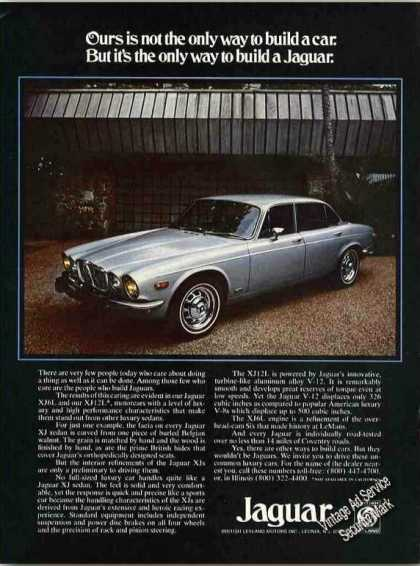 "Jaguar Xj Sedan ""Only Way To Build a Jaguar"" (1975)"