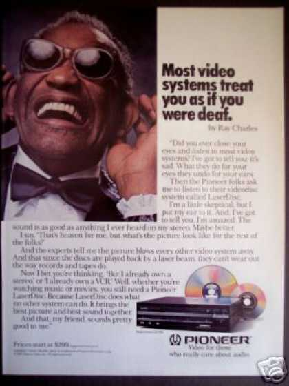 Ray Charles Photo Pioneer Laserdisk Dvd Player (1985)