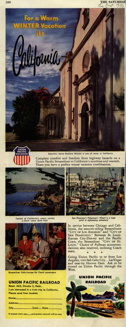 Union Pacific's California – For a Warm WINTER Vacation..its California (1953)