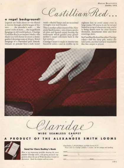Claridge Wide Seamless Carpet (1932)