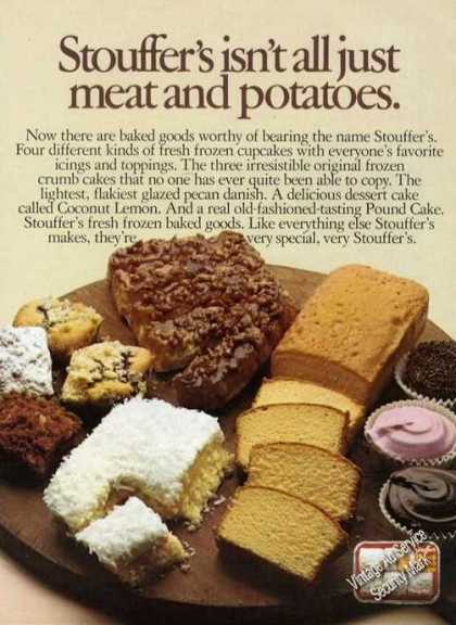 Stouffer's Pastrys Ad Not Just Meat & Potatoes (1975)