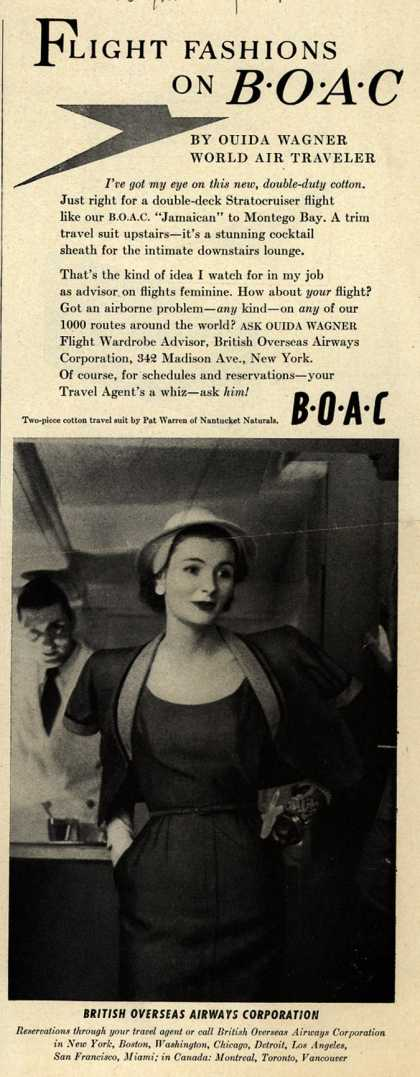 British Overseas Airways Corporation – FLIGHT FASHION ON BOAC (1953)