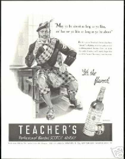 Scotsman Scotland Teacher's Scotch Whisky (1940)