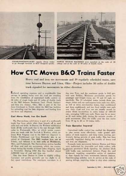 """How Ctc Moves B&o Trains Faster"" Article (1954)"