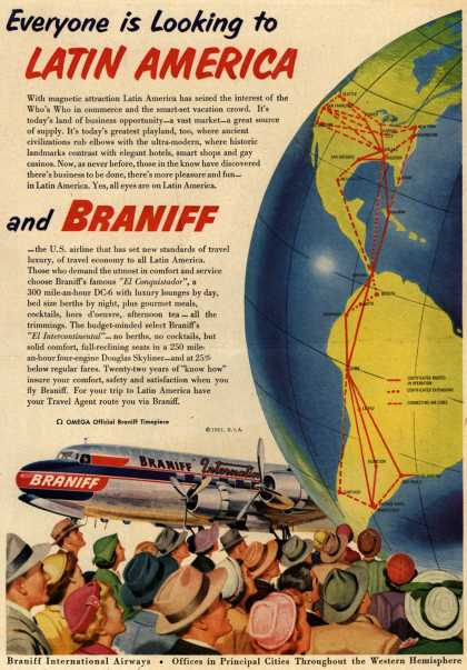 Braniff International Airway's Latin America – Everyone is Looking to Latin America (1951)