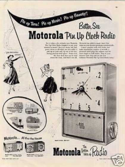 Motorola Pin Up Clock Radio (1953)