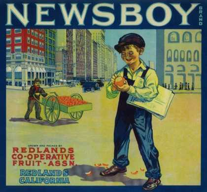 Newsboy Orange Label – Redlands, CA
