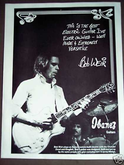 Grateful Dead Bob Weir Photo Ibanez Guitar (1975)