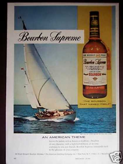 Sailboat Art Bourbon Supreme Whiskey (1960)