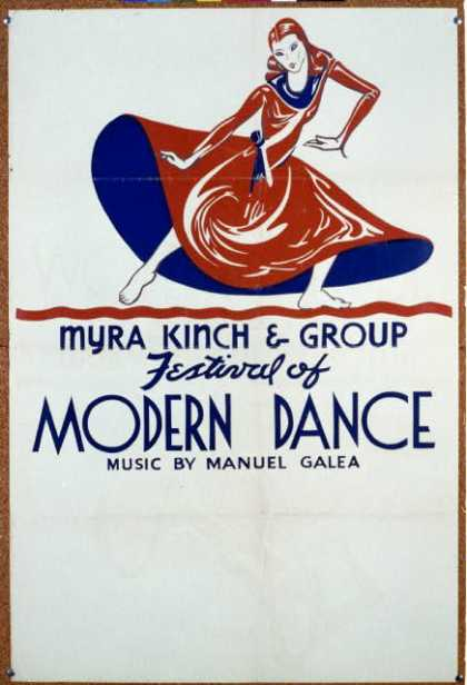 Festival of modern dance – Myra Kinch & group – Music by Manuel Galea. (1938)
