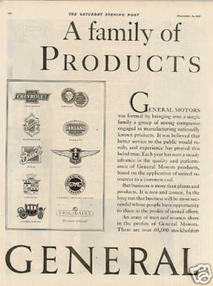 General Motors Ad 2 Page (1927)