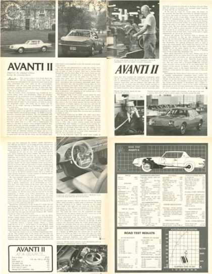 Studebaker Avanti Ii Road Test Print Article (1966)