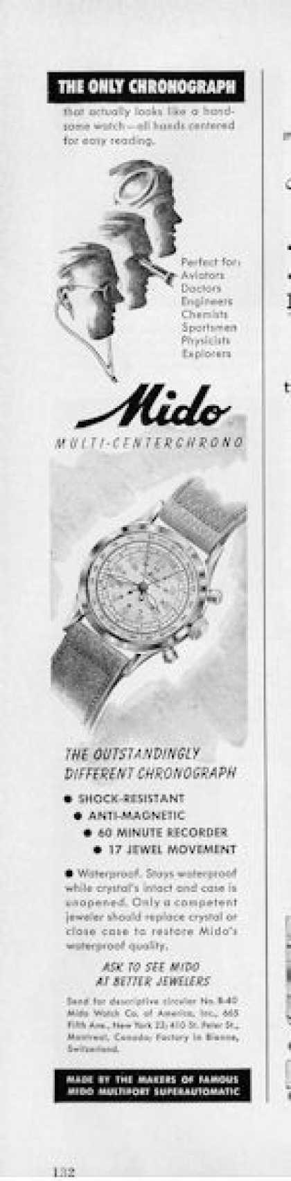 Mido Multi- Centerchrono Watch (1950)