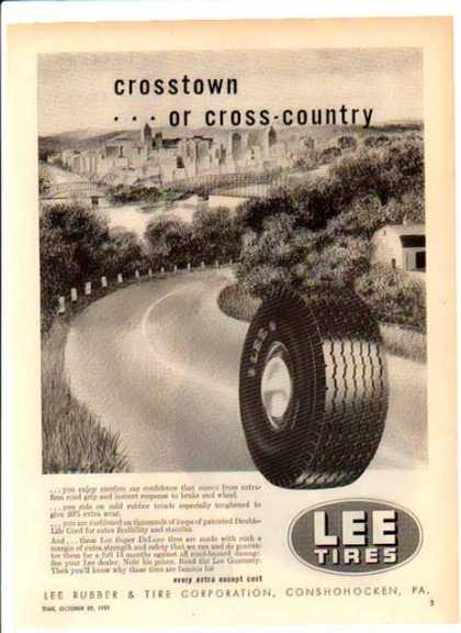 Lee Tires – Cross town...or cross- country (1951)