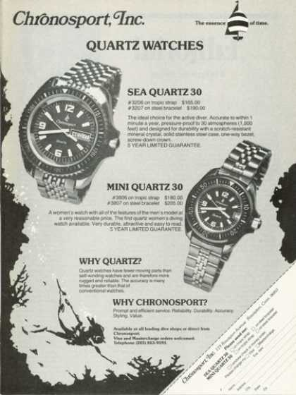 Chronosport Sea Quartz 30 Mini Quartz Watch (1978)