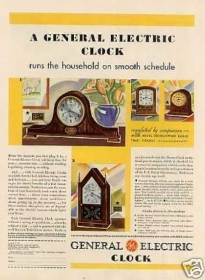 General Electric Clocks Color (1931)