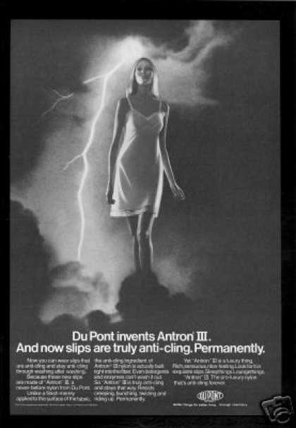 Du Pont Anti Cling Slip Lingerie Lightening (1970)