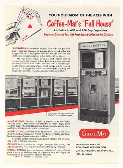 Coffee-Mat Full House VCST-600 Vending Machine (1968)
