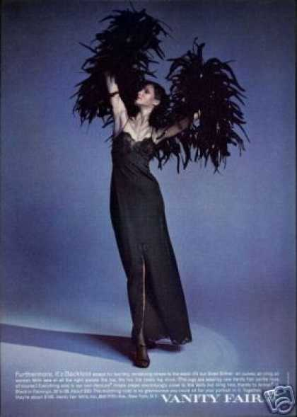 Vanity Fair Black Lingerie Photo (1971)