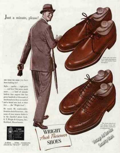 Wright Arch Preserver Shoes Fashion (1949)