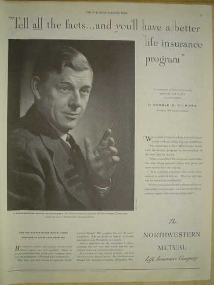 Northwestern Mutual Life Insurance Tell all the facts Donald S Gilmore (1950)