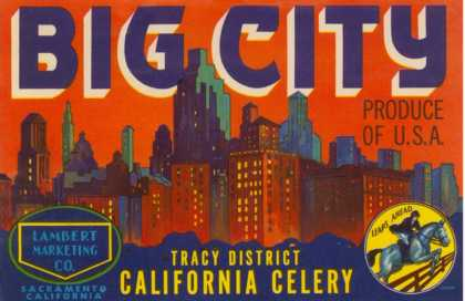 Big City Celery Crate Label