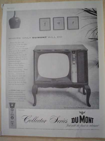 Dumont Collector Series Television TV Where only Dumont Will do (1959)