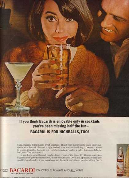 Bacardi's Dry Rums (1964)