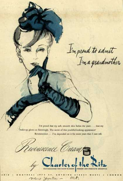 Charles of the Ritz's Cosmetics – I'm proud to admit I'm a grandmother (1944)