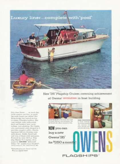 Owens Luxury Liner Flagship Cruiser Boat (1958)