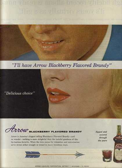 Arrow's Blackberry Flavored Brandy (1963)