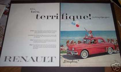 Renault Dauphine Red Car (1958)