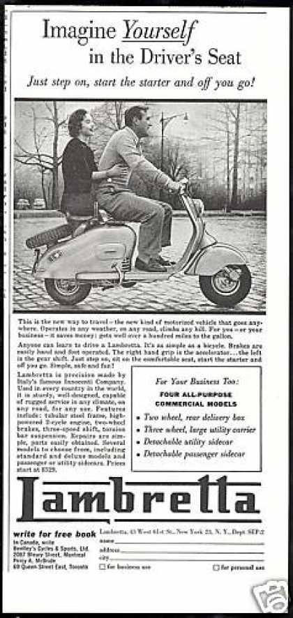 Lambretta Motor Scooter Italy Innocenti Co (1955)