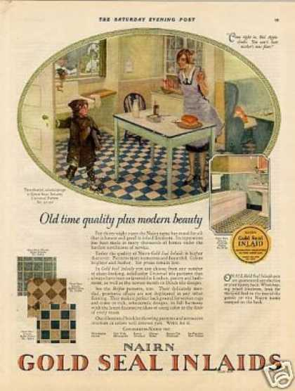 Nairn Gold Seal Linoleum Color (1926)