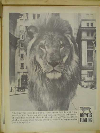 Dreyfus Fund Inc. Lion theme (1968)