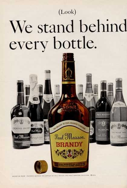Paul Masson Brandy Bottle Art (1966)