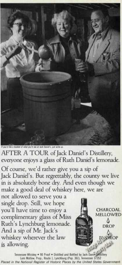Jack Daniels Ad Ruth Daniel&#8217;s Lemonade Photo (1985)