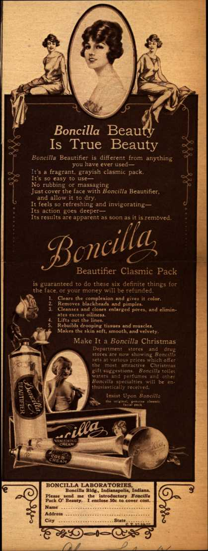 Boncilla Laboratorie's Boncilla Cosmetics – Boncilla Beauty Is True Beauty (1922)