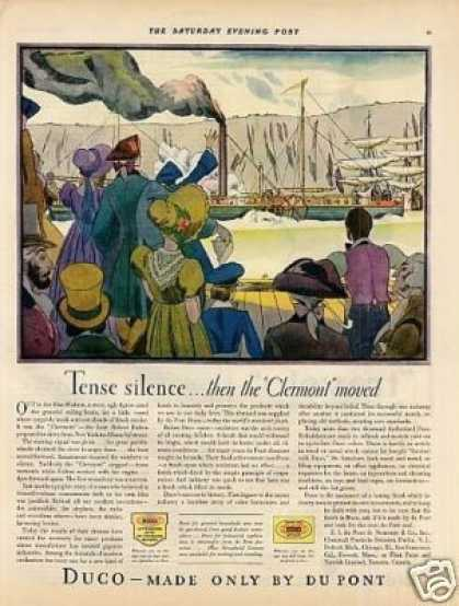 "Dupont Duco Color Ad ""Tense Silence... (1929)"