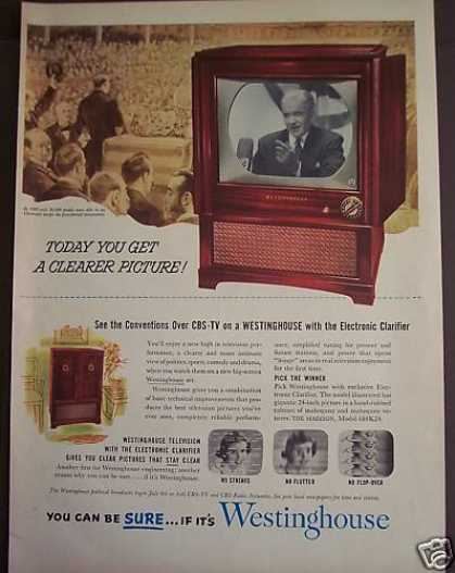 Westinghouse Tv Set Television (1952)