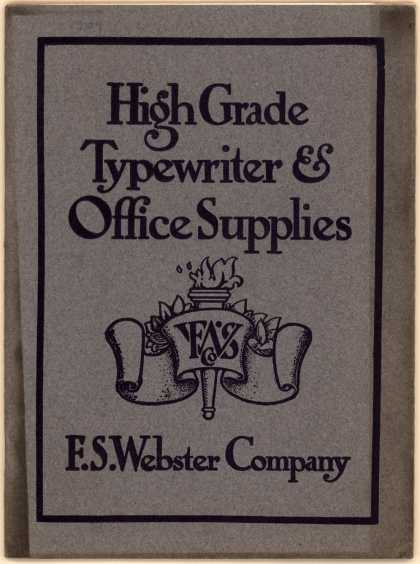F. S. Webster Co.'s Typewriters and office supplies – High Grade Typewriter and Office Supplies (1904)