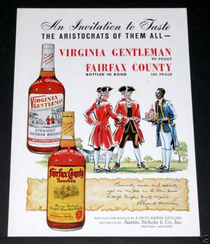 Virginia Gentleman Whiskey (1964)