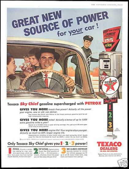 Texaco Gas Station Attendant Sky Chief (1956)