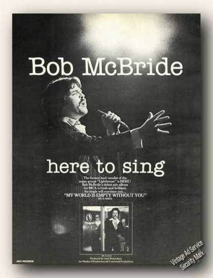 Bob Mcbride Photo Collectible Album Promo (1978)