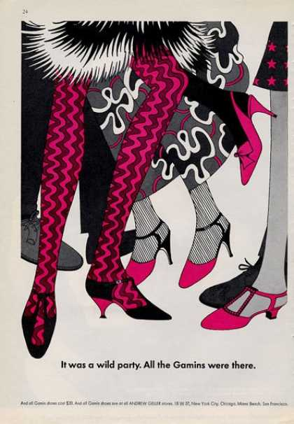 Gamin Shoes 60s Art Influence (1965)