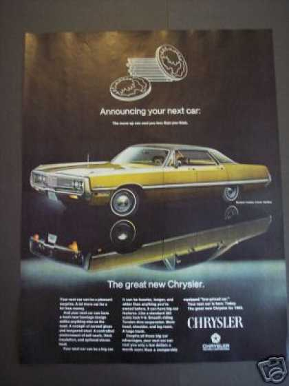 Original New Chrysler for '69 Classic Car (1968)