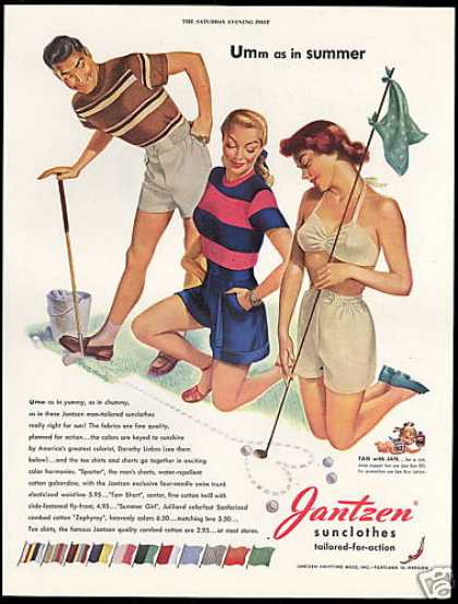 Jantzen Fashion Golf Pete Hawley Art (1948)