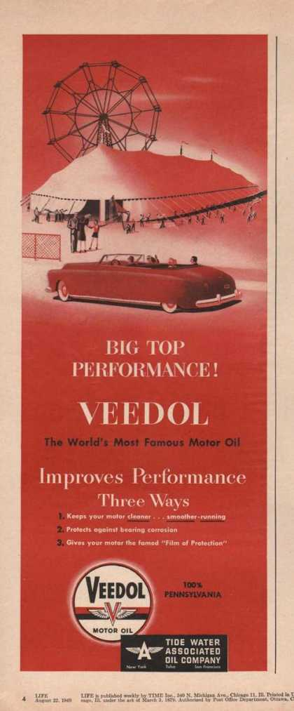 Veedol Car Motor Oilbig Top (1949)