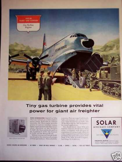 Solar Gas Turbine Engines for Military Aircraft (1956)