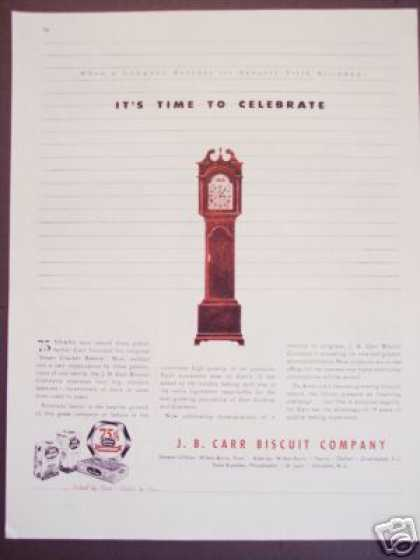 J. B. Carr Biscut Co 75th Year (1945)